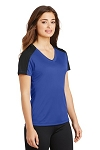 Sport-Tek® Ladies PosiCharge® Competitor™ Sleeve-Blocked V-Neck Tee