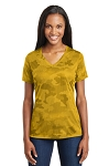 Sport-Tek® Ladies CamoHex V-Neck Tee