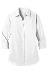 Port Authority® Ladies 3/4-Sleeve Carefree Poplin Shirt